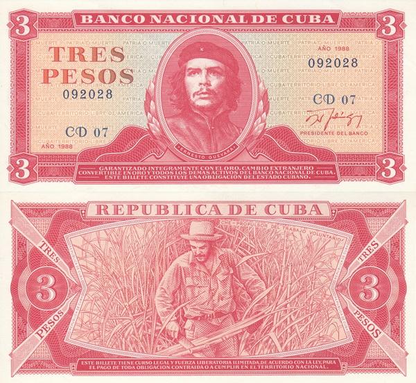 1983-1988 issue 3 pesos