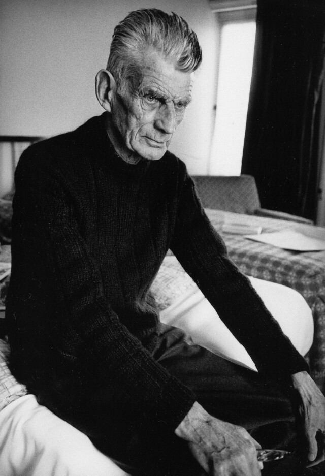 Samuel Beckett in room 604 of The Hyde Park Hotel London 1980