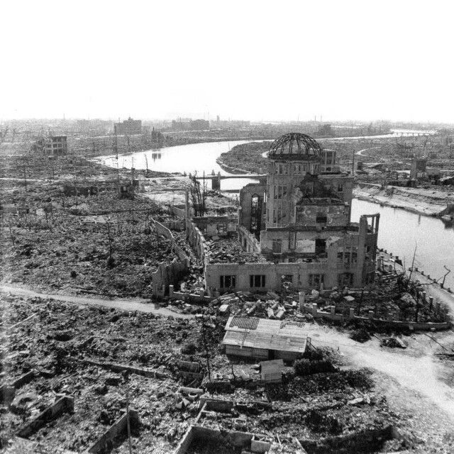Hiroshima after bombing
