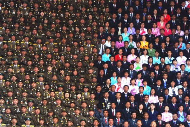 Koreans at the stadium